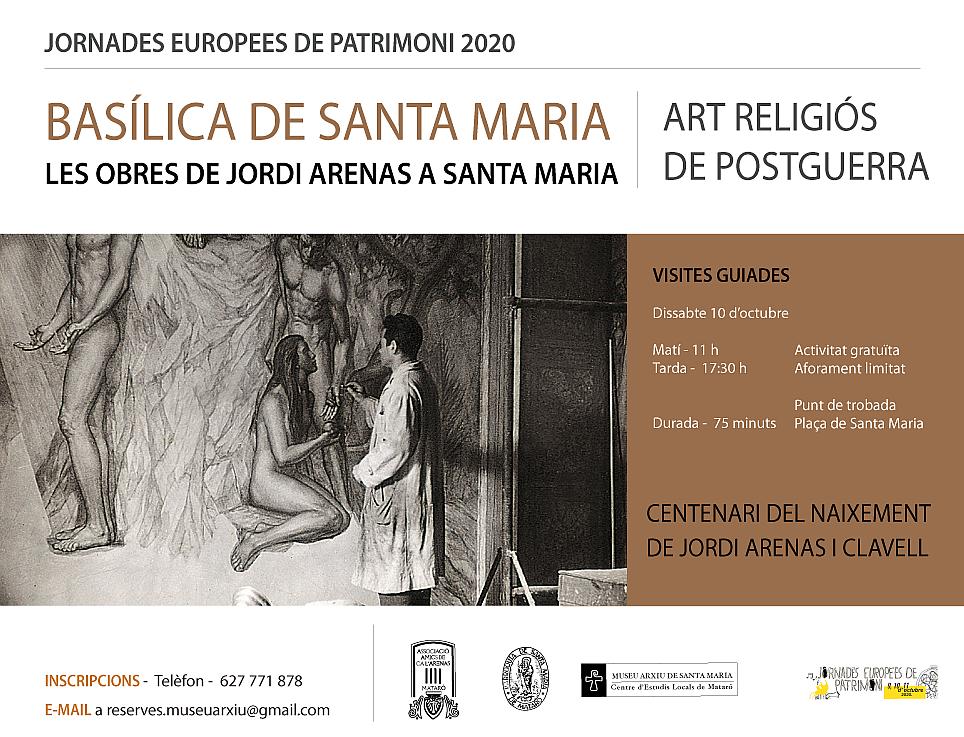 Visiteu les obres de Jordi Arenas a la Basílica de Santa Maria