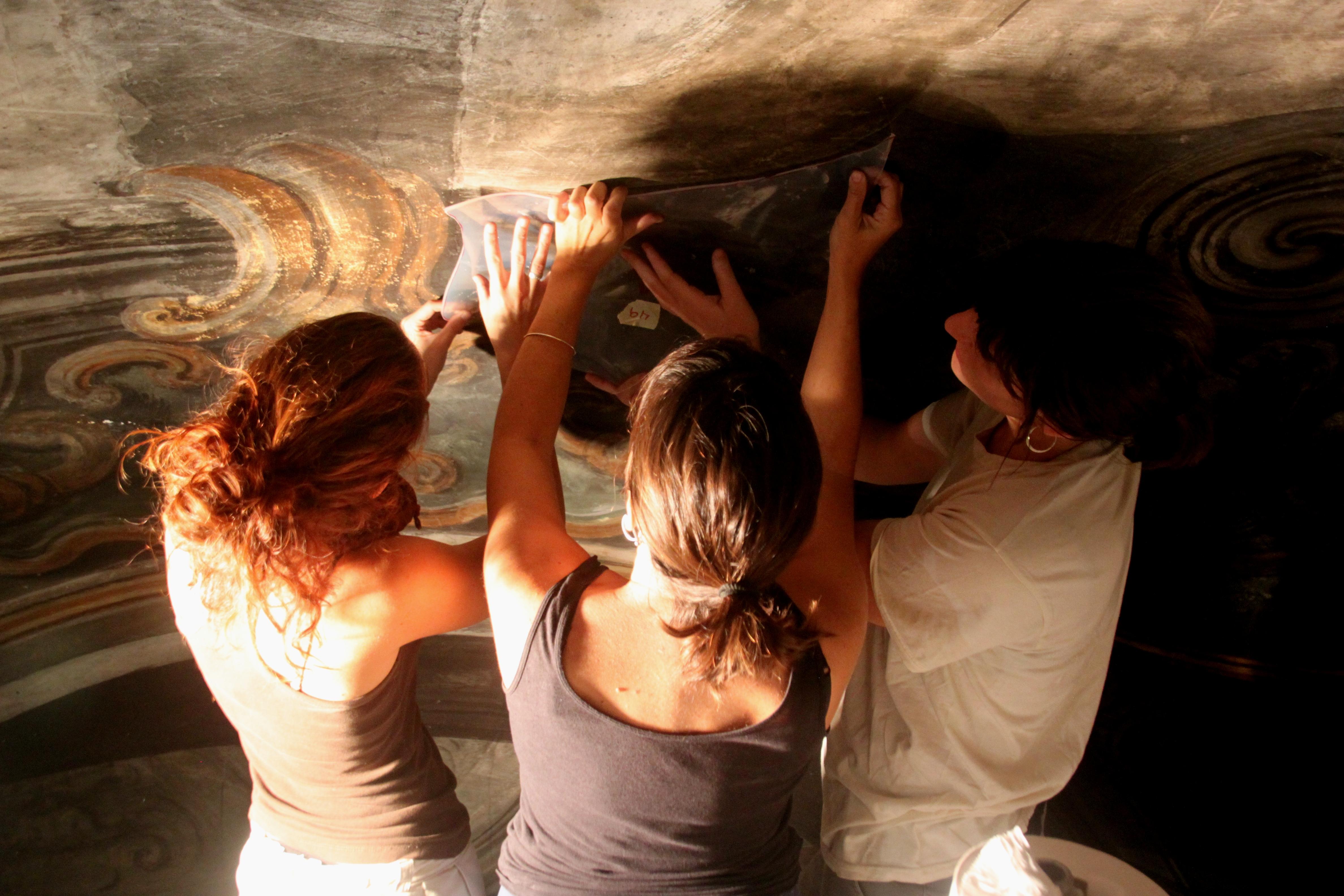Exposició sobre la restauració de la capella dels Dolors