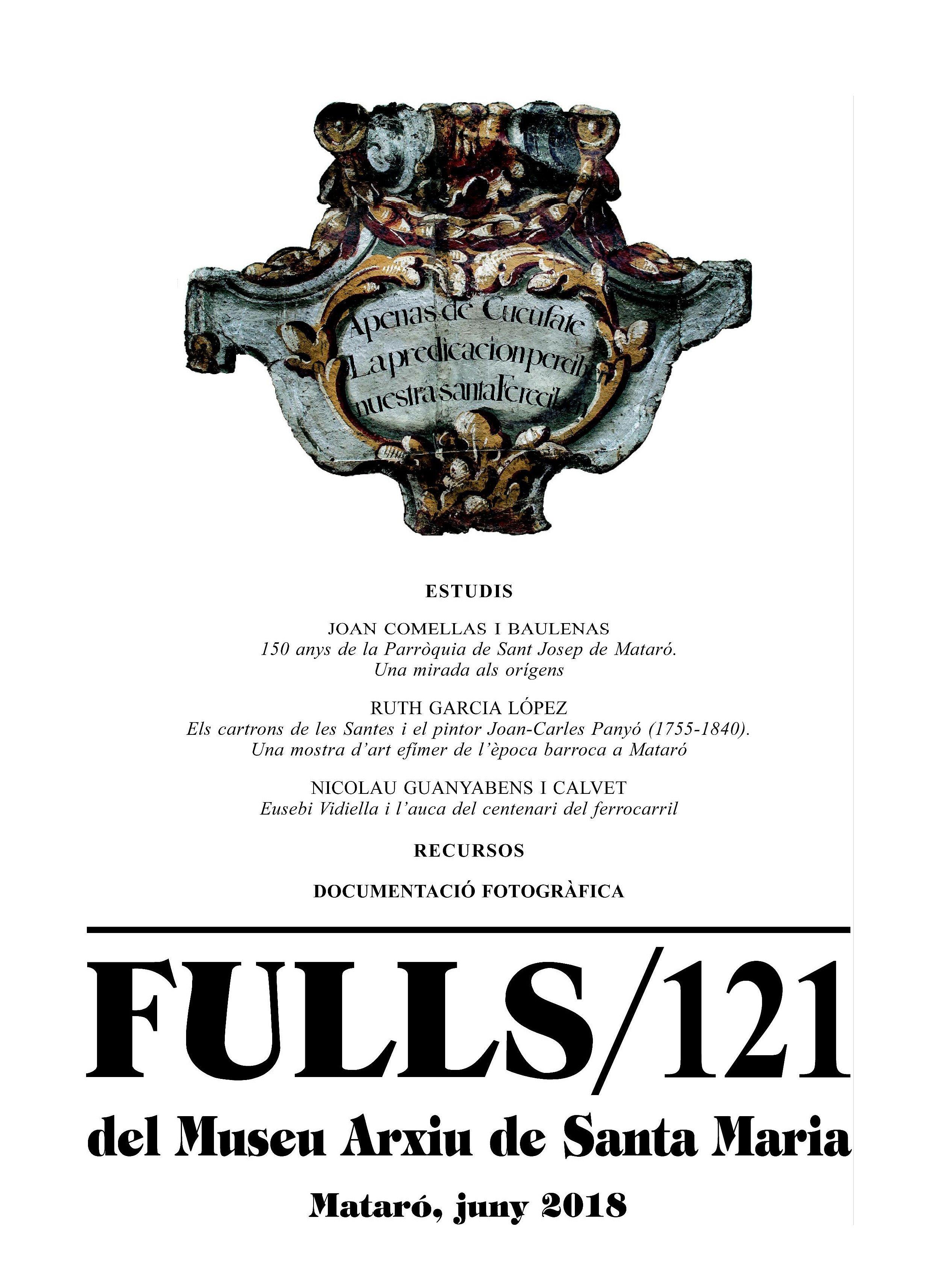 Celebració dels 40 anys de la revista Fulls del Museu Arxiu de Santa Maria