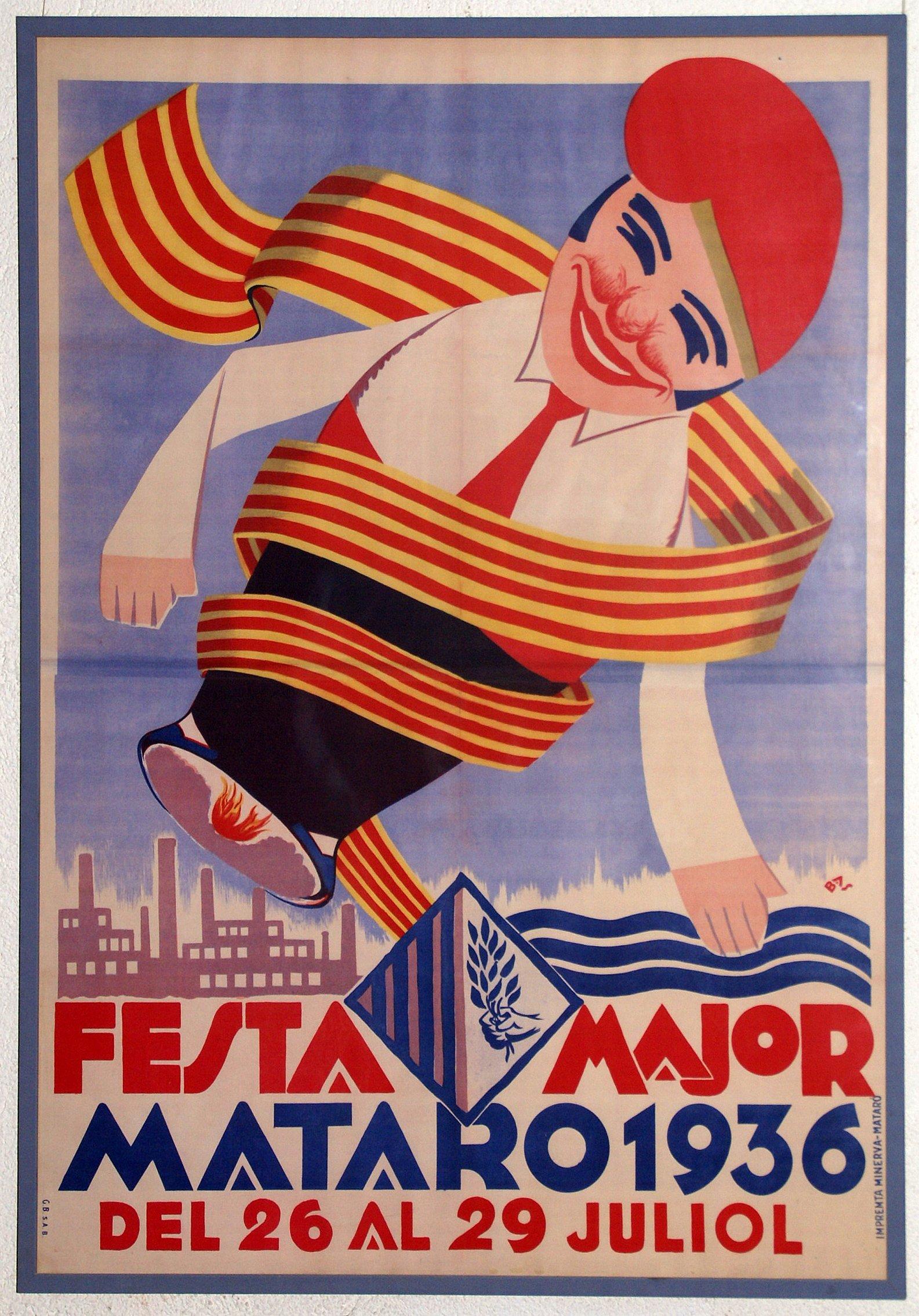 El cartell de les Santes de 1936, fins ara desconegut, al MASMM